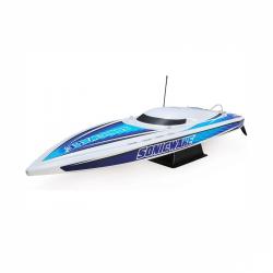 "Loď na ovládanie Proboat Sonicwake 36"" Self-Right Deep-V BL RTR biela"