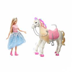 Barbie princess adventure princezná a kôň so svetlami a zvukmi Mattel