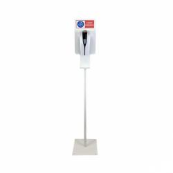 Stojan oblý s automatickým dávkovačom dezinfekcie v spreji - sanitárna biela
