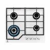 Elegantná plynová varná doska Electrolux KGG6436W disponuje štyrmi horákmi s rôznou veľkosťou. Stabilitu kuchynského riadu zabezpečujú dve mriežky, ktoré sa nachádzajú na horákoch. Varnú dosku ovládate prostredníctvom štyroch gombíkov. Súčasťou je elektrické zapaľovanie. Veľkou výhodou je termopoistka, ktorá chráni Vašu domácnosť.