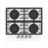 Dizajnová plynová varná doska značky MORA VDP 645 GW5 je vyrobená z kvalitného tvrdeného skla.  K dispozícii sú 4 plynové horáky, ktoré disponujú poistkami STOP GASS.  Na horákoch sa nachádzajú dve liatinové mriežky, ktoré zaručia stabilitu kuchynského riadu. Zapaľovanie je elektrické stačí otočiť jedným zo 4 gombíkov a plynový varný panel je v prevádzke.