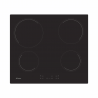 Ide o sklokeramický varný panel značky CANDY CC 64 CH, ktorý disponuje 4 varnými zónami. Moderná sklokeramická varná doska sa ovláda dotykovo, k dispozícii máte 9 úrovní nastavenia teploty. Súčasťou každej varnej zóny je indikátor zostatkového tepla, ktorý chráni pre popálením. Veľkou výhodou: detská poistka, automatické vypnutie v prípade nečinnosti a časovač.