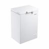 Táto truhlicová mraznička Goddess FTE0100WW8 Vám zaručí nízku spotrebu energie (energetická trieda A +). Maximálna kapacita je 100 l. Mraziaci výkon je 5,5 kg potravín za 24 h. Maximálna hlučnosť len 42 dB. Potraviny môžete skladovať veľmi prehľadne vďaka drôtenému košíku, ktorý je súčasťou mrazničky.