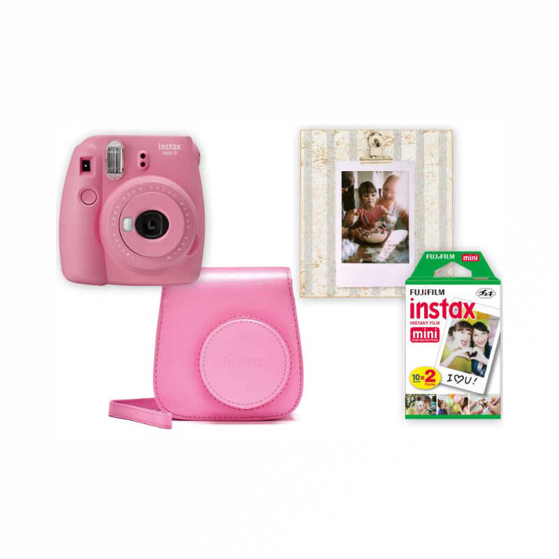Instax Box Instax Mini 9 Blush rose + púzdro + rámček + film 20ks