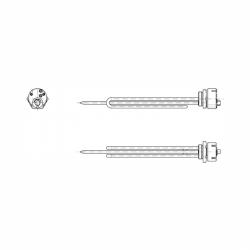 Prírubové elektrické vykurovacie teleso Tatramat HP 2/040