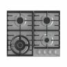 Plynová varná doskaGorenje GW 641 X disponuje 4 plynovými horákmi. Na horákoch sa nachádzajú liatinové mriežky pre lepšiu stabilitu hrncov, v ktorých varíte. Veľkou výhodou je bezpečnostná poistka horákov s elektrickým zapaľovaním prostredníctvom ergonomických gombíkov. Súčasťou je aj WOK horák s vyšším výkonom, ktorý je určený najmä na ázijskú kuchyňu. Varný panel je vyrobený z hladkého povrchu a tak je jeho údržba veľmi jednoduchá.