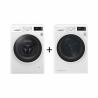 Ide o kvalitný set dvoch spotrebičov Práčky LG FW84J6TY0 a Sušičky bielizne LG RC81EU2AV4Q, ktorý je výborným pomocníkom a uľahčí prácu v domácnosti. Obidva spotrebiče sú zaradené do energetickej triedy A +++, čím je zaručení nízka spotreba energie.  Kapacita bielizne pri práčke aj sušičke je až 8 kg.  Spredu plnená práčka dosahuje maximálnu rýchlosť otáčok 1400/min.  S týmito spotrebičmi máte zaručenú tichú prevádzku, pretože práčka pri praní má maximálnu hlučnosť len 55 dB a hlučnosť sušenia je 64 dB. Vďaka LED displeju máte k dispozícii prehľadné informácie o praní a sušení.