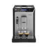 Ide o automatický kávovar DELONGHI ELETTA ECAM 44.620.S, ktorý pripraví dokonalú kávu s tlakom až 15 barov. Zásobník na vodu má až 2 l. Kapacita zásobníka na kávu je 400 g. K dispozícii máte až 13 stupňov hrubosti mletia. Príkon má 1450 W. Súčasťou je aj automatická čistiaca a odvápňovacia funkcia.