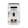 Ide o automatický kávovar DELONGHI ECAM 22110W, ktorý disponuje tlakom až 15 barov. K dispozícii máte možnosť prípravy až dvoch šálok kávy naraz.  Objem zásobníka na vodu je 1,8 l. Príkon je 1450 W. Až 13 stupňov hrubosti mletia.  Veľkosť zásobníka na kávu je 250 g.