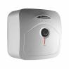 Ide o elektrický ohrievač vody Ariston ANDRIS R 30, ktorý je možné nainštalovať nad alebo pod umývadlo.  Disponuje kompaktnými rozmermi a zmestí sa všade. Celkový objem predstavuje 30 l. Výkon je 1,5 kW.  Teplotu vody regulujete pomocou otočného termostatu.  Vodu dokáže udržať dlhodobo teplú hrubá polyuretánová izolácia. Spotrebič je zaradený do energetickej triedy C.