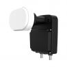 Zabezpečuje príjem z dvoch družíc pre dva satelitné prijímače. Disponuje nízkym šumovým číslom 0,2 dB. Umožňuje príjem HD a SD programov.