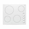 Sklokeramický varný panel Bosch PKE652CA1E disponuje 4 varnými zónami a ukazovateľmi zostatkového tepla. Ovládanie je mechanické pomocou gombíkov. Vybrať si môžete až z 9 stupňov teploty. Príkon predstavuje 6600 W. Určite Vás zaujme aj dokonalé biele prevedenie s fazetou v prednej a bočnej časti.