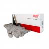 Sivé nitrilové rukavice jednorazové vo veľkosti XL.  Veľmi odolné voči pretrhnutiu s hladkým povrchom. Vysoká chemická odolnosť umožňuje aj prácu s agresívnou chémiou. Rukavice nepudrované - bez zápachu a rizika alergických reakcií.
