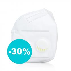 Ochranná maska zachytí 95% vírusov (s výdychovým ventilom)