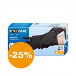 Nitrilové rukavice vo veľkosti M 50 ks (čierne)