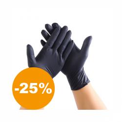 Nitrilové rukavice vo veľkosti XL 60 ks (čierne)