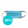Ochranné rúško je vyrobený zo 100 % polypropylénu. Hrúbka vlákna predstavuje 0,22 mm. Rúško je dvojvrstvové. Ponúkame ho vo farbe: zdravotnícka modrá/masterbatch