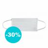Ochranné rúško je vyrobený zo 100 % polypropylénu. Hrúbka vlákna predstavuje 0,99 mm. Rúško je jednovrstvové. Ponúkame ho vo farbe: zdravotnícka biela.