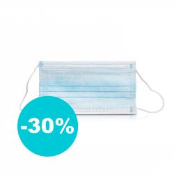 Rúško Medical 3-vrstvové jednorázové 50 ks balenie
