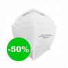 Tvárový respirátor s ochranou FFP3 typ NR D. Tento respirátor poskytuje najúčinnejšiu ochranu pred bakteriálnymi a vírusovými aerosólovými látkami. Respirátor je certifikovaný, spĺňajúci normu EN149:2001 +A1:2009 FFP3. Zaručuje najvyšší stupeň bakteriálnej ochrany až na 12 hodín.