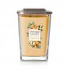 Sviečku Yankee Candle - Kumquat & Orange 552 g ponúkame v dizajnovom prevedenís vekom z brúseného kovu, ktorý slúži aj, ako podstavec, vďaka čomu je sviečka stabilná. Ide o vôňu: kumquat a pomaranč. Doba horenia: 65 - 80 hodín.