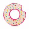 Nafukovací kruh Intex Donut s štýlovým dizajnom a imitáciou farebného posypu. Vyrobené z odolného a certifikovaného vinylu vysokej kvality. Realistická grafika všetkými obľúbeného donutu. Priemer kruhu je 114 cm.