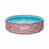 Kruhový bazén s konštrukciou Marimex Florida 3,66 x 0,99 m TEHLA 10340243. Celkový objem bazéna 9 400 l. Pevná kovová konštrukcia s plastovými pätkami. Steny a dno bazéna tvorí trojvrstvová laminovaná fólia s polyesterovou výstuhou (Polystrenght). Vonkajšia stena bazéna má tehlový vzor, vnútorná strana modrá mozaika.