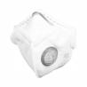 Tvárový respirátor značky Refil s ochranou FFP3 typ NR. Súčasťou je výdychový ventil.  Respirátor je vyvinutí, ako prevencia pred coronavírusom Tento respirátor poskytuje najúčinnejšiu ochranu pred bakteriálnymi a vírusovými aerosólovými látkami. Zaručuje najvyšší stupeň bakteriálnej ochrany až na 24 hodín (nepretržite). Respirátor nie je možné z hygienických dôvodov vrátiť!