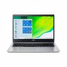 """Notebook Acer Aspire 3 Pure Silver má veľkosť uhlopriečky 15,6"""" v rozlíšení 1920 x 1080 px. Kapacita operačnej pamäte je 8 GB. Súčasťou je operačný systém Windows 10 Home. Pevný disk má veľkosť 512 GB. Maximálna výdrž batérie je 9 hodín. Batéria je dvojčlánková."""