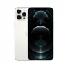 """Uhlopriečka displeja mobilného telefónu Apple iPhone 12 Pro Max strieborný je 6,7"""" s rozlíšením 2778 x 1284. Rozlíšenie prednej a zadnej kamery je 12 Mpx. Výhodou je, že mobilný telefón je vodeodolný. Počet objektívov zadného fotoaparátu: 3, počet objektívov predného fotoaparátu: 1. Procesor je 6 jadrový. Telefón má vnútornú pamäť 128 GB. Verzia operačného systému iOS 14."""