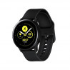 """Smart hodinky Samsung Galaxy Watch Active Black sú kompatibilné s operačným systémom: Android, iOS. Určite Vás zaujmú aj smart funkcie, ako sú notifikácie z mobilu, ovládanie mobilu, vibrácie, stav batérie, hľadanie mobilu. Uhlopriečka displeja má 1,1"""". Veľkou výhodou je, že hodinky sú vodotesné do hĺbky 50 m. Inteligentné hodinky dokážu zaznamenať rozmanité aktivity, ako: beh, triatlon, cyklistika, plávanie, fitness, lyžovanie, golf, veslovanie, jachting, chôdzu, jógu, lezenie, potápanie, turistiky. Bežná výdrž batérie je 45 hodín."""