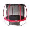 Trampolína Crefit Premium 427 cm disponuje nosnosťou až do 150 kg. Maximálnu stabilitu zaručia 4 pozinkované nohy. Súčasťou je až 88 pružín. Odolná voči UV žiareniu. Bezpečnosť je zaručená, aj vďaka ochrannej sieti. Červené prevedenie.